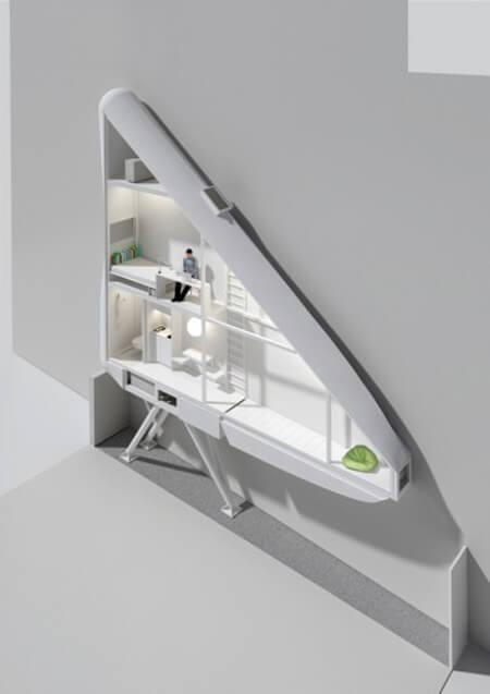Самый узкий дом в мире - вид изнутри