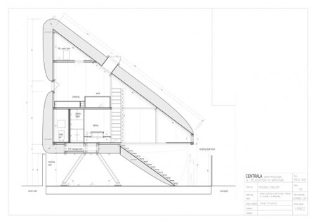 Самый узкий дом в мире - чертеж